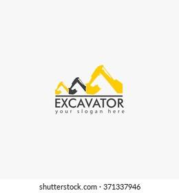 Excavator Vector Logo