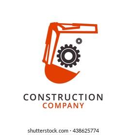 Excavator vector logo design template. digger or dredger icon.