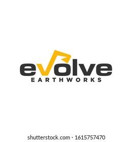 Excavator Vector Logo Template.