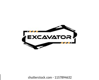 Excavator Vector Logo Template. logo for heavy equipment,construction,industrial etc, vector illustration