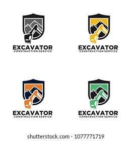 Excavator Vector Logo Stock Vectors Images Vector Art Shutterstock