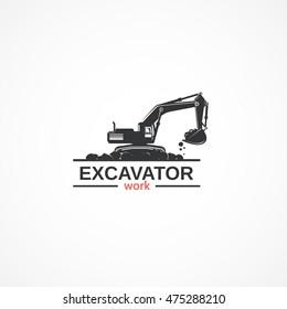 Excavator work.