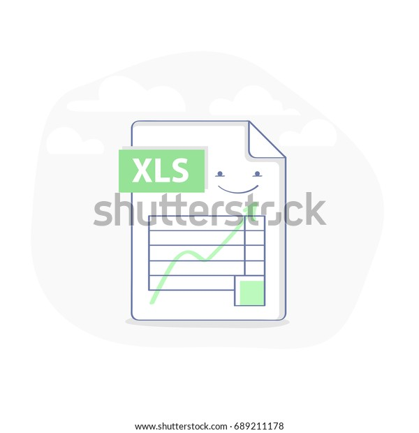 Excel File Illustration Icon Table Graph Stock Vector