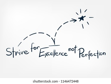 excellence perfection doodle vector hand drawn word lettering simple