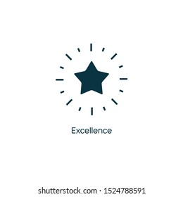 Excellence star vector premium line icon. Sertificate stamp quality star mark service.