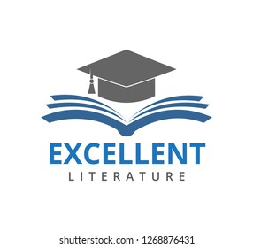 excellent education school vector icon logo design template
