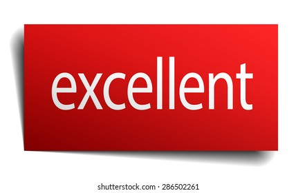 excellent red square isolated paper sign on white