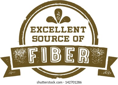 Excellent Source of Dietary Fiber Healthy Nutrition Stamp