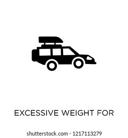 Excessive weight for the vehicle icon. Excessive weight for the vehicle symbol design from Insurance collection.