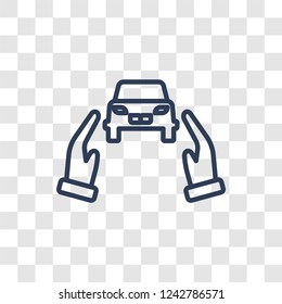 Excessive weight for the vehicle icon. Trendy linear Excessive weight for the vehicle logo concept on transparent background from Insurance collection