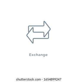 Exchange arrow icon, reverse swap vector switch flip. Exchange data symbol icon.