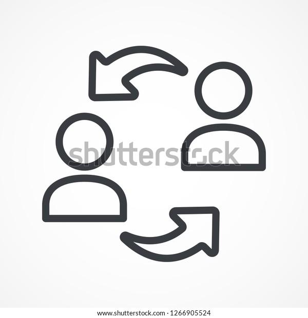 Exchange Arrows Icon Replacement Worker Arrow Stock Vector