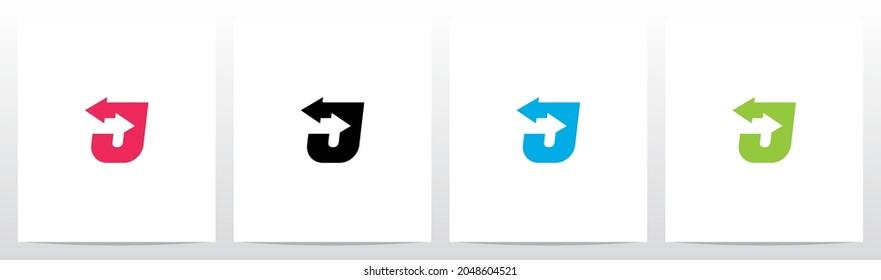 Exchange Arrows On Letter Logo Design J