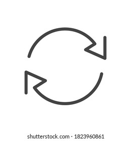 Exchange trade icon, return or swap, swap cycle, thin line web symbol on white background - vector illustration eps10