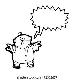 excited robot cartoon