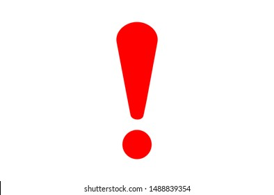 exclamation - caution icon vector design template on white background.