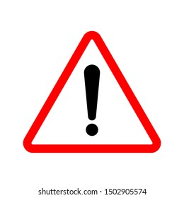 exclamation. caution icon vector design template on white background.
