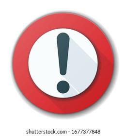 Exclamation Danger Alert-Schild Illustration