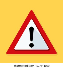Exclamation Danger sign