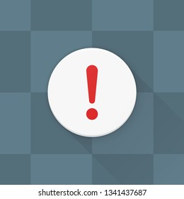 Exclamation Danger sign Adaptive icon Material Design illustration