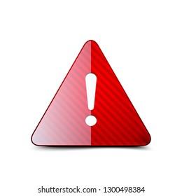 Exclamation Danger sign illustration