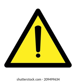 Exclamation danger sign. Vector illustration