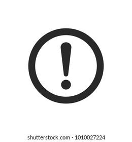 Exclamation Icon Vector flat design style. Attention sign icon.