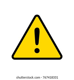 exclamation mark, caution sign vector