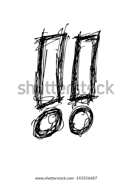 exclamation mark doodle
