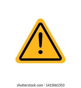 Exclamation Mark Hazard Warning Symbol Icon Vector Design Illustration