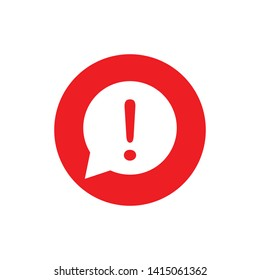 Exclamation Mark Hazard Warning Symbol Icon Vector Design Illustration