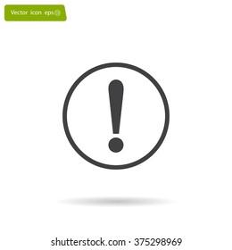 Exclamation mark. Exclamation mark. Hazard warning symbol. Flat design style. Vector EPS 10.