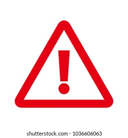Exclamation mark icon. Attention sign icon. Warning symbol
