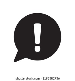 Exclamation mark icon. Hazard warning symbol. Attention sign icon. Vector.