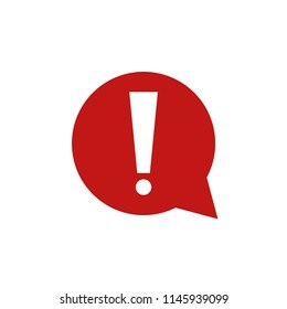 Exclamation mark icon isolated on white background. Vector illustration. Eps 10.