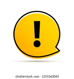 Exclamation mark icon vector. Attention sign symbol. Warning alert icon.