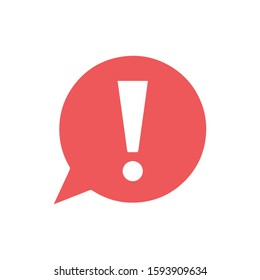 Exclamation mark isolated. Red vector Attention caution sign. Flat warning symbol.