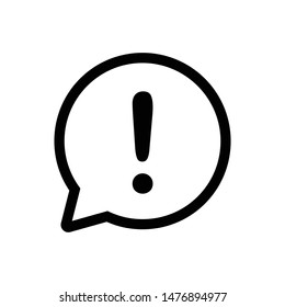 exclamation mark sign outline vector