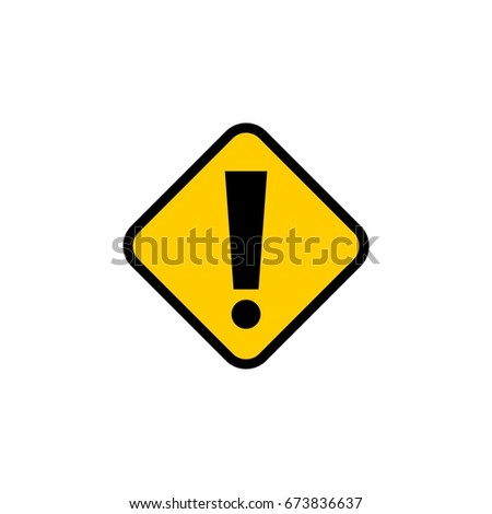 exclamation mark street sign template stock vector royalty free