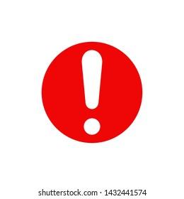 Exclamation mark symbol vector icon illustration