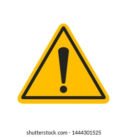 Exclamation Mark,danger warning sign, emergency alert,caution sign,vector icon illustration