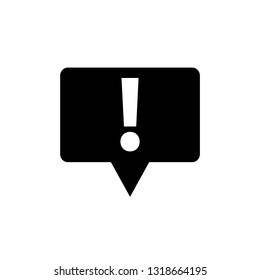 exclamation point icon.   exclamation point symbol. Chat symbol with the exclamation point. Vector icon for website design, app.