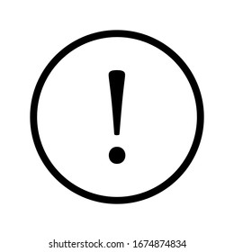 Exclamation Sign Icon on  Circle Buttons ,vector