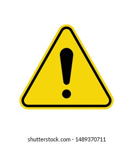 Exclamation Sign Isolated On White Background. ISO Triangle Warning Symbol Simple, Flat Vector, Icon You Can Use Your Website Design, Mobile App Or Industrial Design. Vector Illustration