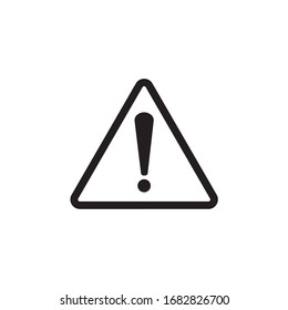 Exclamation sign, warning icon vector illustration - Vector