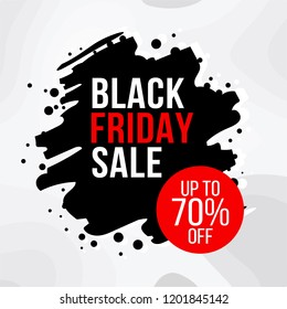 Exclusive Black Friday sale flat vector illustration