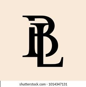 Exclusive and Elegant Modern B and L Letter Serif Font Logo Design