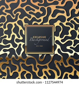 exclusive festive glossy vector background image with golden frame