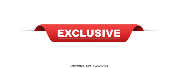exclusive label. exclusive red banner sign. vector ribbon exclusive