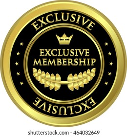 Exclusive Membership Gold And Black Medal
